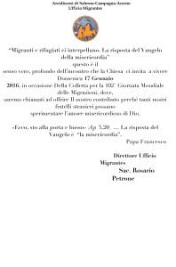 Microsoft Word - LETTERA COLLETTA MIGRANTI2016.docx