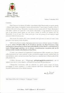 Lettera dell'Arcivescovo pellegr.